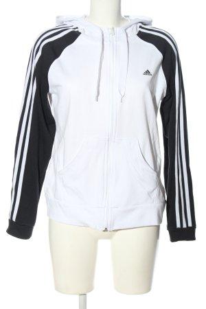 Adidas Giacca fitness bianco-nero stile casual