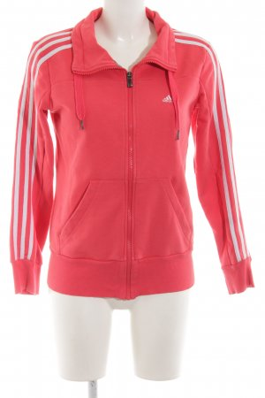 Adidas Sweatjacke rot Streifenmuster Casual-Look