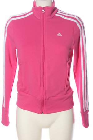 Adidas Sweatjack roze-wit casual uitstraling