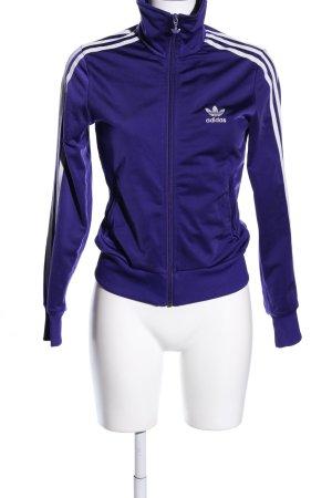 Adidas Giacca fitness blu-bianco stile atletico