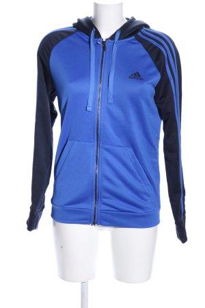 Adidas Giacca fitness blu-nero motivo a righe stile atletico
