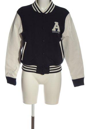 Adidas Sweat Jacket black-white striped pattern casual look