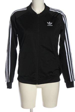 Adidas Kurtka dresowa czarny-biały W stylu casual