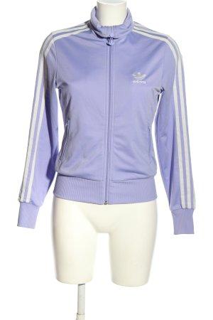 Adidas Sweatjacke lila-wollweiß Motivdruck sportlicher Stil