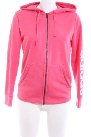 Adidas Chaqueta de tela de sudadera rosa look casual