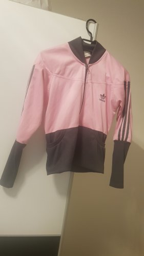 Adidas Originals Fleece Jackets dark grey-pink