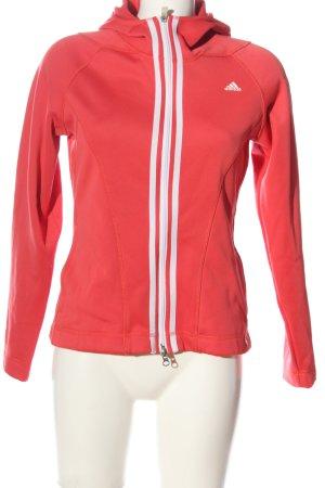 Adidas Sweatjacke rot-weiß Casual-Look