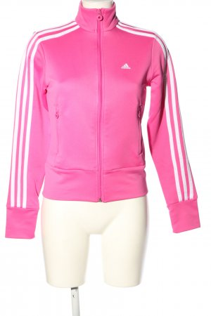 Adidas Sweatjacke pink-weiß Casual-Look