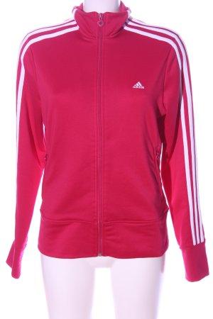 Adidas Giacca fitness rosa caratteri ricamati stile casual