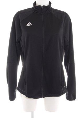 Adidas Chaqueta de tela de sudadera negro look casual