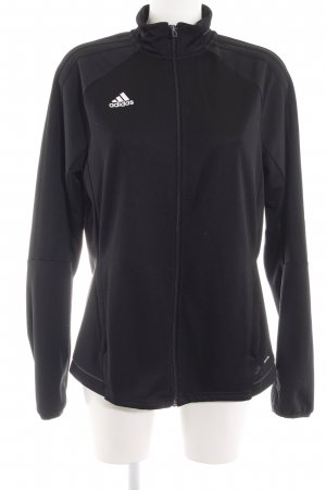 Adidas Sweatjack zwart casual uitstraling