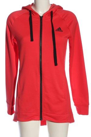 Adidas Sweatjacke rot Casual-Look