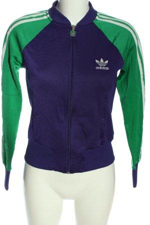 Adidas Kurtka dresowa niebieski-zielony W stylu casual