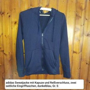 Adidas Sweatjacke mit Kapuze, Gr. S