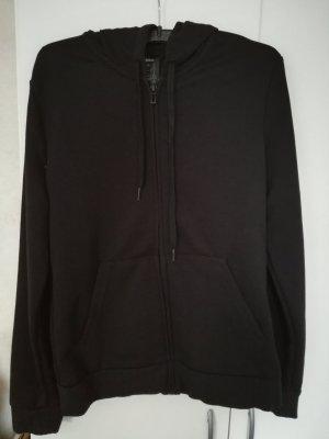 Adidas Chaqueta de tela de sudadera blanco-negro