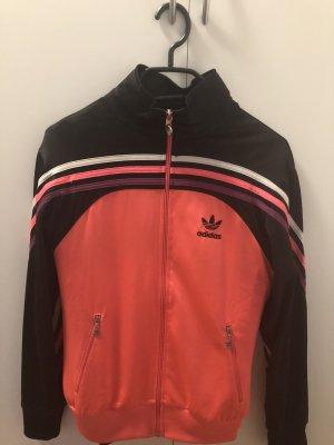 Adidas Sweatjack zwart-framboosrood