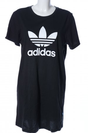 Adidas Sweat Dress black-white printed lettering casual look