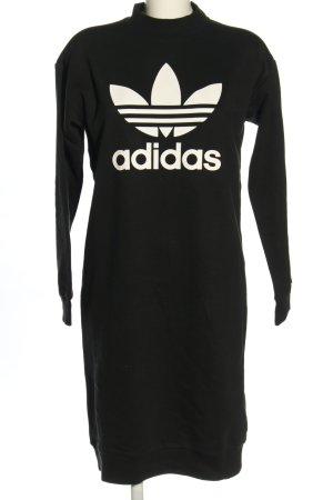 Adidas Robe Sweat noir-blanc imprimé avec thème style décontracté