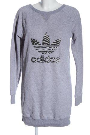 Adidas Abito felpa grigio chiaro puntinato stile casual