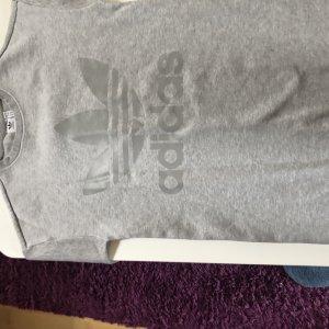 Adidas Originals Vestido de tela de sudadera gris claro