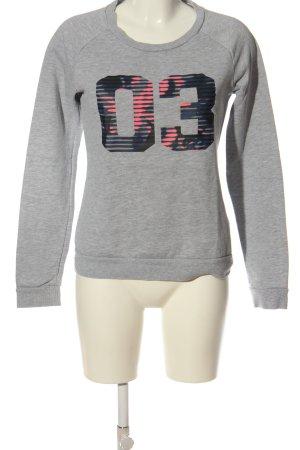 Adidas Sweatshirt gris clair moucheté style décontracté