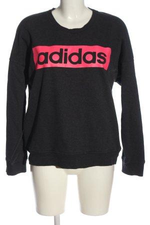 Adidas Sweatshirt schwarz-pink meliert Casual-Look