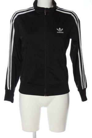 Adidas Sweatshirt noir-blanc style décontracté
