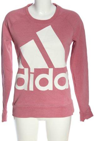 Adidas Sweatshirt pink-weiß meliert Casual-Look