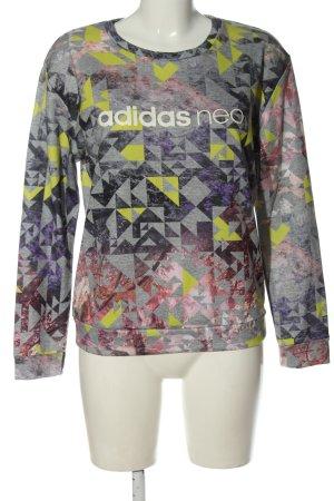 Adidas Sweatshirt Allover-Druck Casual-Look