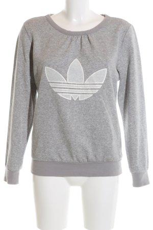 Adidas Sweatshirt hellgrau meliert Casual-Look