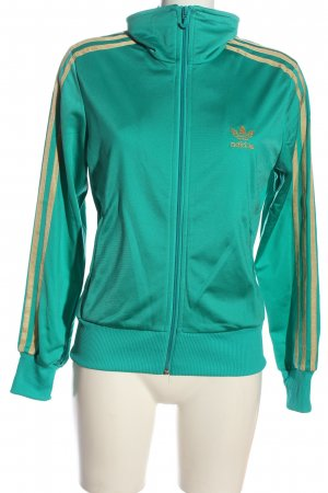 Adidas Sweat Jacket turquoise themed print casual look