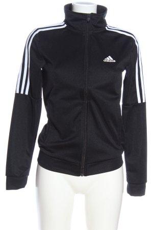 Adidas Sweatshirt schwarz Schriftzug gedruckt Casual-Look