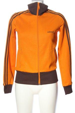 Adidas Veste sweat orange clair-brun lettrage brodé style décontracté