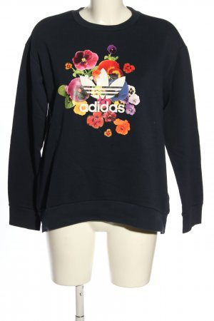 Adidas Sweatshirt schwarz Motivdruck Casual-Look