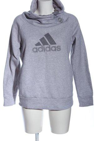 Adidas Bluza dresowa jasnoszary Melanżowy W stylu casual