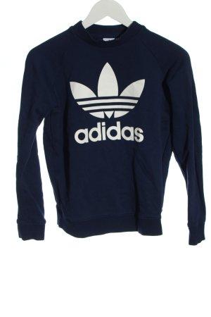 Adidas Sweatshirt blau-weiß Casual-Look