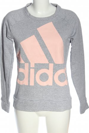 Adidas Sweatshirt hellgrau-creme meliert Casual-Look