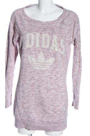 Adidas Sweatshirt lila-weiß meliert Casual-Look