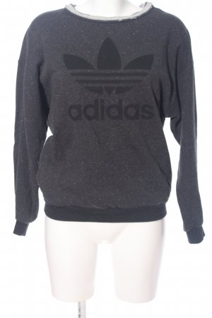 Adidas Sweat Shirt light grey printed lettering casual look