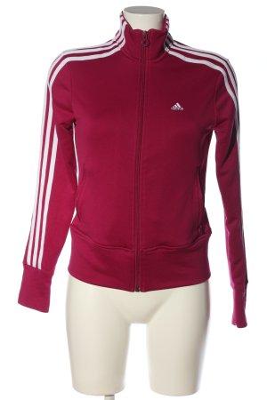 Adidas Bluza dresowa czerwony-biały Nadruk z motywem W stylu casual