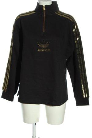 Adidas Sweatshirt noir-doré style décontracté