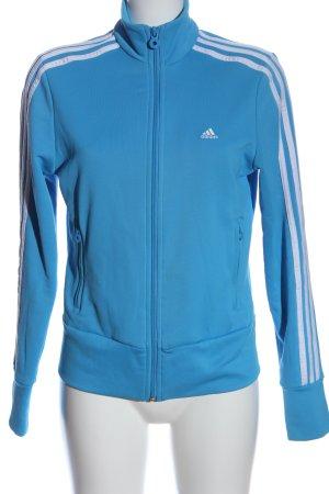 Adidas Sweatshirt bleu-blanc style athlétique