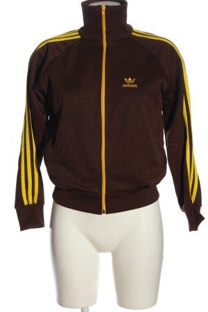 Adidas Sweatjack bruin-sleutelbloem casual uitstraling