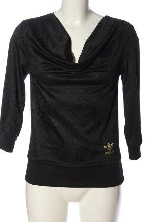 Adidas Sweatshirt schwarz abstraktes Muster Casual-Look