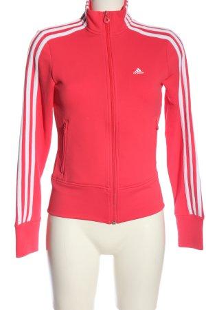 Adidas Sweatshirt rot-weiß Streifenmuster Casual-Look