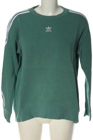 Adidas Sweatshirt vert style décontracté