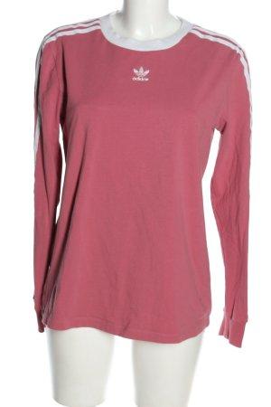 Adidas Sweatshirt pink-weiß Streifenmuster Casual-Look