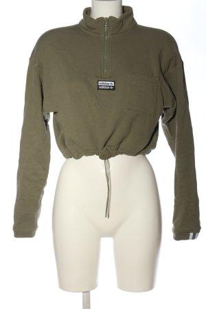 Adidas Bluza dresowa khaki W stylu casual