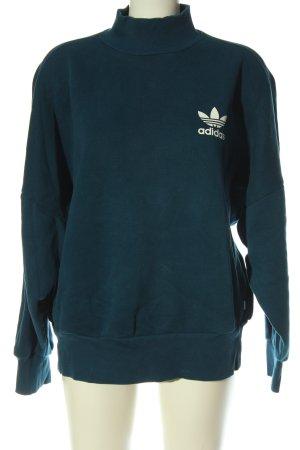 Adidas Bluza dresowa turkusowy Nadruk z motywem W stylu casual