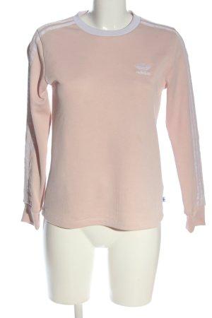 Adidas Sweatshirt blanc cassé-turquoise lettrage imprimé style décontracté